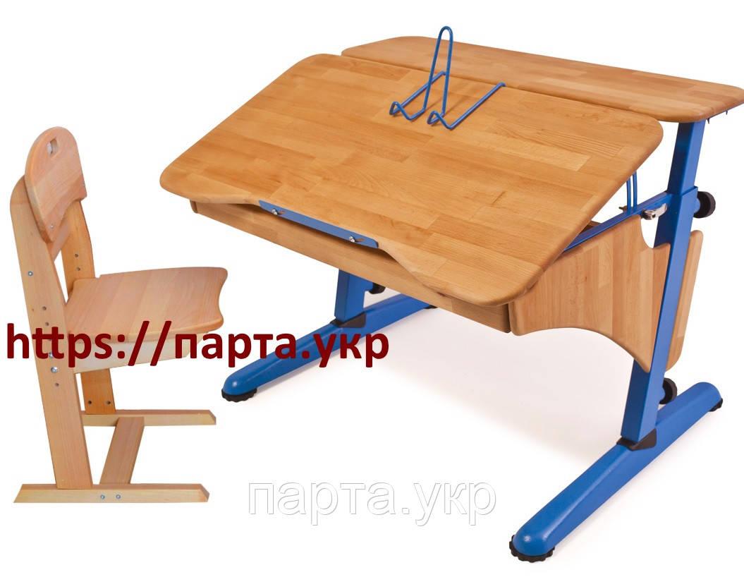 Детская парта Эргономик 90см + стул, бук, разные цвета