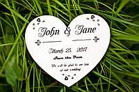 Деревянные пригласительные на свадьбу Сердце