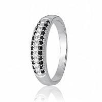 """Серебряное кольцо с фианитами """"307"""""""