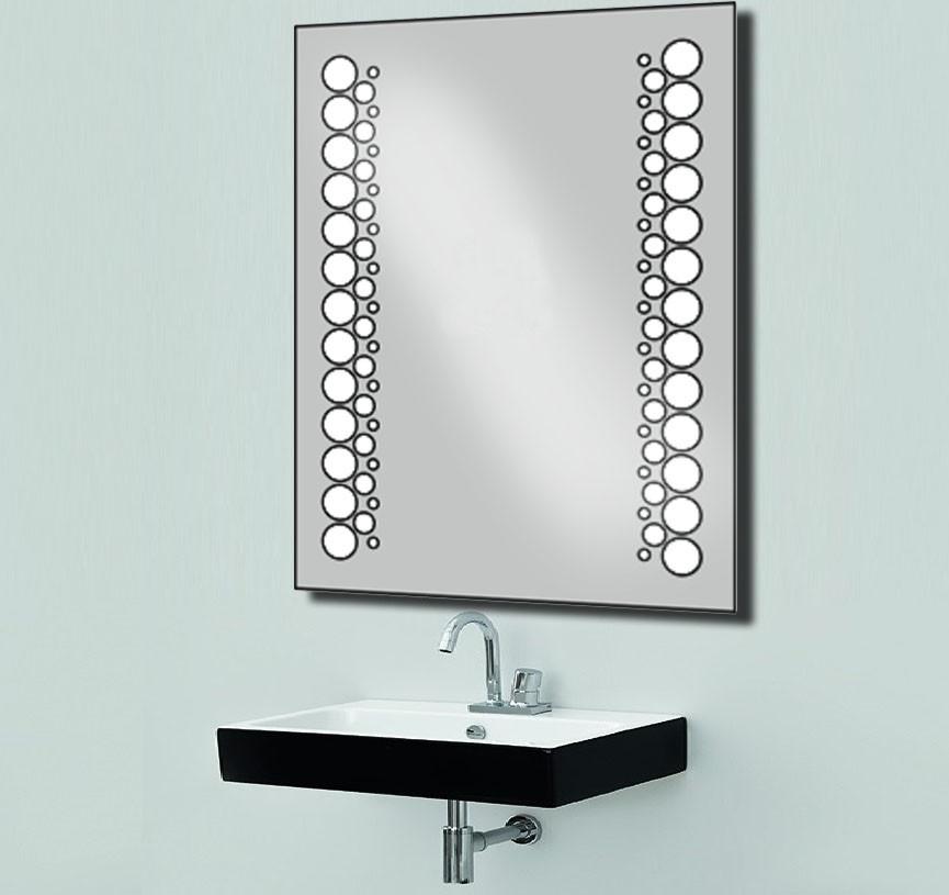 Зеркало с LED подсветкой d-14 для ванной комнаты 600х800 мм
