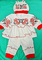 Вышитый костюм для девочки новорожденных