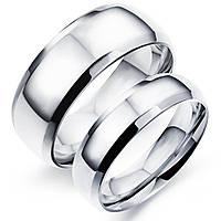 Парные кольца для влюбленных из стали, р. 19, 20, 20.7
