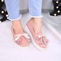 Слипоны женские Vices Maxi пудра 3504 , спортивная обувь