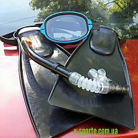 Ласты в наборе,с,маской,акванавт и трубкой интекс с клапаном