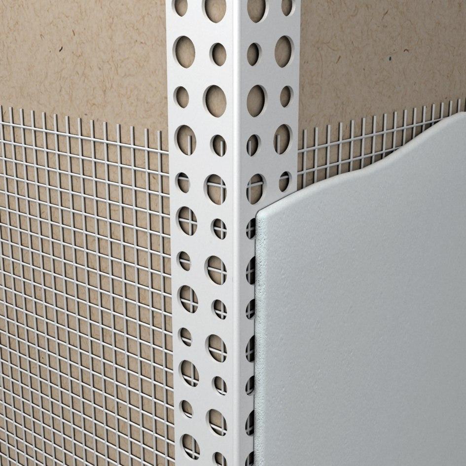 Уголок ПВХ фасадный с сеткой