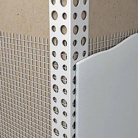 Уголок ПВХ фасадный с сеткой 3 м х 10 см