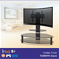 Тумба ТВ с кронштейном Тайфун Black (1250х615х1200)