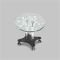 Стол журнальный стеклянный Фокус Art К(550*550*455)
