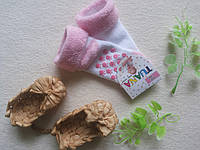 Носочки махра с тормозами розовые