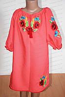 Подростковое  вышитое платья для девочки
