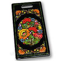 Доска декоративная сувенир петриковская роспись