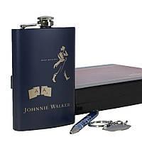 Модный подарочный набор. Фляга Johnnie Walker с ручкой и брелком. 260 мл. FP17161, фото 1
