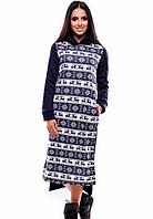 Зимнее платье на флисе с орнаментом