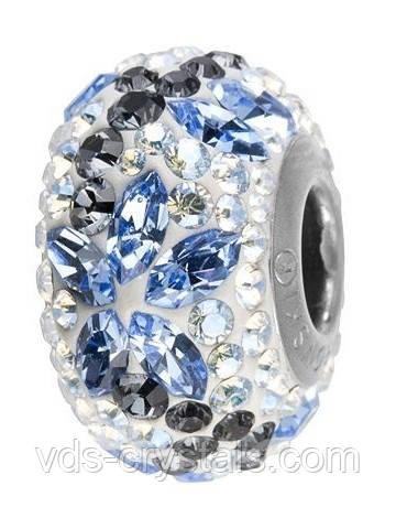 Шарм для браслета Пандора от Swarovski 82093 Light Sapphire
