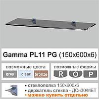Стеклянная полка  PL11PG  (6мм)