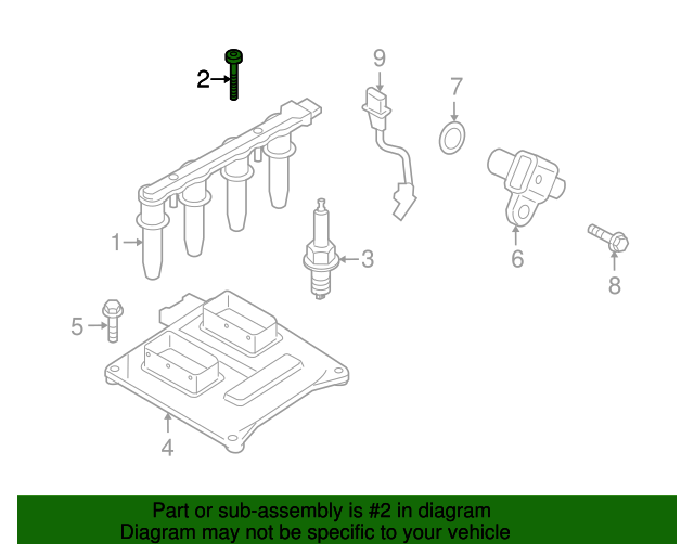 Болт (винт) крепления модуля (катушки) зажигания к ГБЦ M6 X 75 GM 2024064 11102371 Z16XEP Z16XE1 Z16XER A16XER Z16LET A16LET Z18XER A18XER Z16XNT