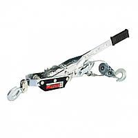 Лебедка рычажная, тяга - 4 т, подъем - 1,6 т, двойное храповое колесо MTX 522259