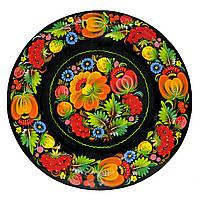 Тарелка петриковская роспись, Тарелка расписная.