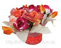 """Искусственный букет """"Троянди"""" - с ароматом розы, фото 1"""