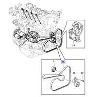 Ремень приводной (генератора, ручейковый) 6PK x 1852 mm GM 1340027 55578486 OPEL Insignia с дизельными двигателями A20DTC A20DTL A20DTJ A20DT A20DTH