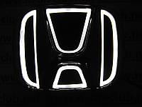 Светящаяся эмблема Honda/Хонда 5D белая