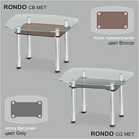 Стеклянный обеденный стол Rondo C-G MET
