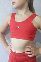Топ детский спортивный красный, фото 1