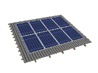Крепления солнечных батарей на наклонную крышу