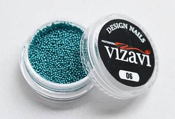 Бисер (бульонки) для дизайна ногтей бирюзовый
