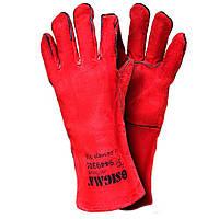Перчатки Sigma краги сварщика р10,5 длина 35см (красные) 9449301 (9449301)