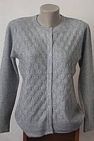 Женская кофта с ажурной вязкой