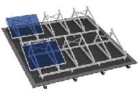 Крепления солнечных батарей на плоскую крышу