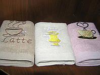 """Набор махровых полотенец кухонных """"Капучино"""" 3 шт. 31х51см."""