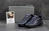 Мужские кожаные кроссовки ECCO BIOM,темно синие. (Сертификат качества).44р