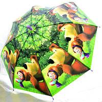 Зонт Детский трость полуавтомат Маша и Медведь 18-3130-3