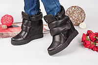 Стильные и удобные женские ботинки Zanot//. Натуральная кожа, внутри на байке. Цвет черный.Р-р 36-40.