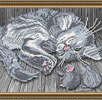 Схема на ткани под вышивку бисером Art Solo VKA4062. Тише мыши