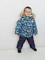 """Полукомбинезон с курткой зимний для мальчика и девочки, """"Лэд"""" голубой"""
