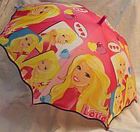 Зонт Детский трость полуавтомат Барби 18-3131-2