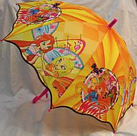 Зонт Детский трость полуавтомат Винкс 18-3132-1