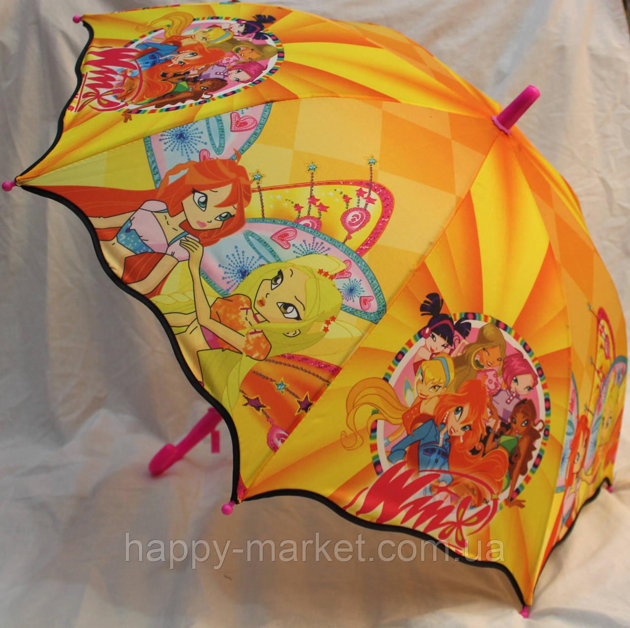 Зонт Детский трость полуавтомат Винкс 18-3132-1 - Интернет-магазин Хеппи Маркет в Харькове