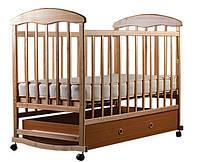 Детская кровать Наталка с ящиком. Ясень светлый