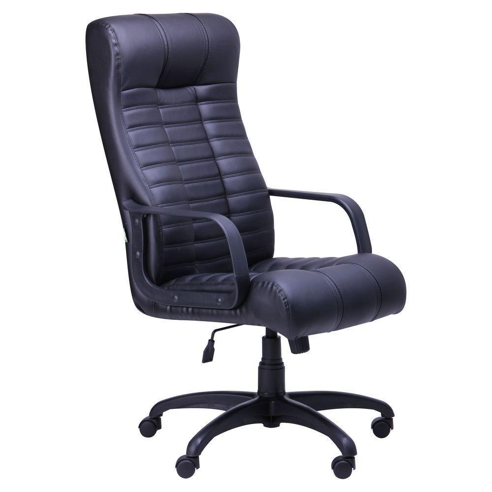 Кресло Атлантис Пластик Кожа Сплит черная (AMF-ТМ)
