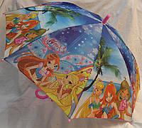 Зонт Детский трость полуавтомат Винкс 18-3132-4