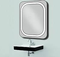 Зеркало с LED подсветкой d-18 настенное