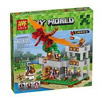 Конструктор Майнкрафт Minecraft Красный дракон Lele 33027 468 деталей
