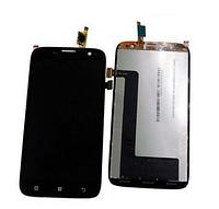 Дисплей Lenovo A859 (BTL507212) леново с тачскрином в сборе, цвет черный