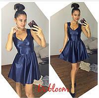 Платье из эко кожи с пышной юбкой разные цвета SMslip1670