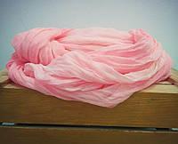 Шарф летний розовый