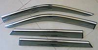 FABIA 2015 ветровики с молдингом нерж сталь